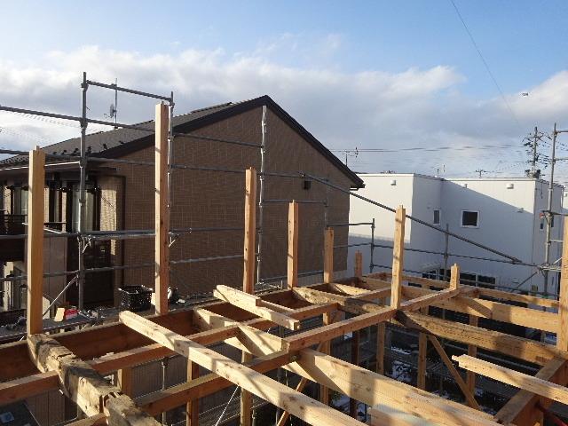 向中野の家 フルリフォーム工事 大工工事がスタート!_f0105112_04375105.jpg