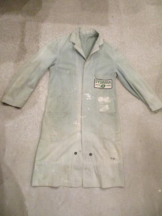 30\'s~ Train Button Shop Coat 30s 40\'s ショップコート S 36 _e0187362_10554976.jpg
