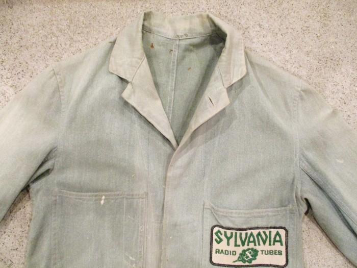 30\'s~ Train Button Shop Coat 30s 40\'s ショップコート S 36 _e0187362_10561545.jpg