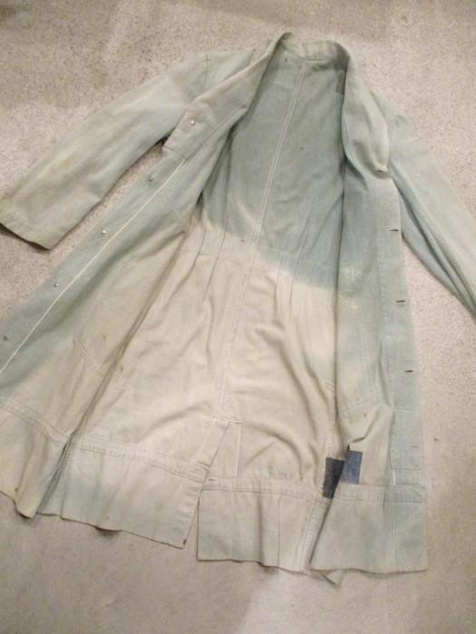 30\'s~ Train Button Shop Coat 30s 40\'s ショップコート S 36 _e0187362_10591137.jpg