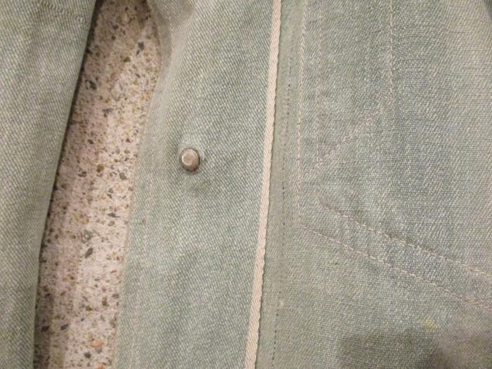 30\'s~ Train Button Shop Coat 30s 40\'s ショップコート S 36 _e0187362_11132863.jpg