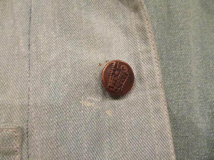 30\'s~ Train Button Shop Coat 30s 40\'s ショップコート S 36 _e0187362_11165305.jpg