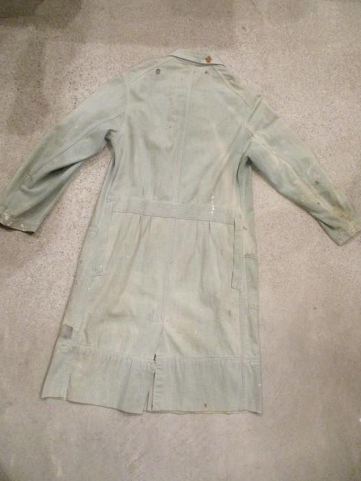 30\'s~ Train Button Shop Coat 30s 40\'s ショップコート S 36 _e0187362_11172990.jpg