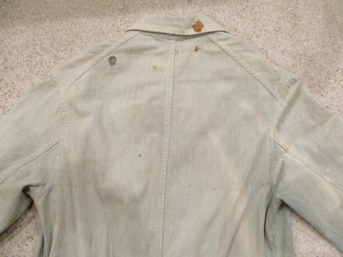 30\'s~ Train Button Shop Coat 30s 40\'s ショップコート S 36 _e0187362_11175491.jpg
