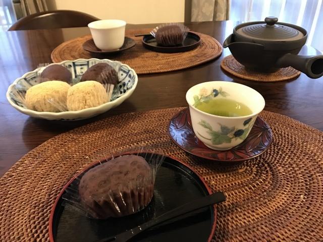 銀座あけぼの「黄金餅おはぎ」でお茶時間_a0180279_15141050.jpg
