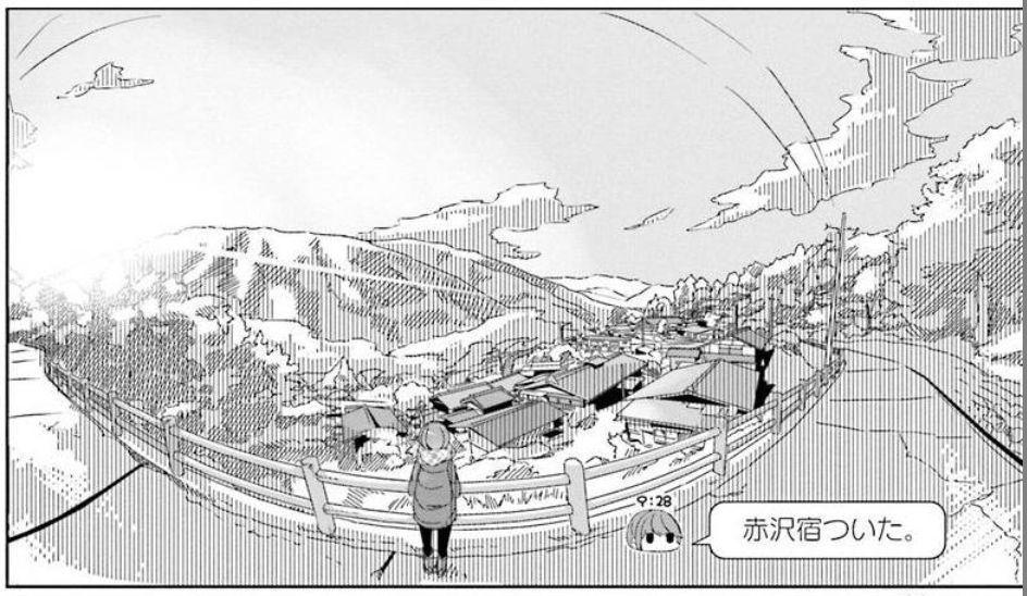 コミック「ゆるキャン△」舞台探訪002 志摩リン早川町の赤沢宿へ 第7巻第36話_e0304702_05171933.jpg