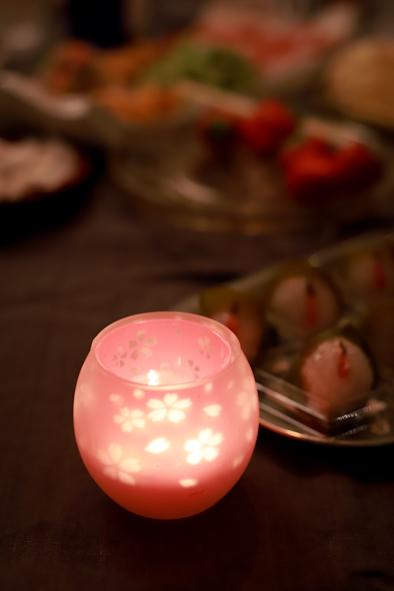 アトリエで夜桜_b0208604_15181986.jpg