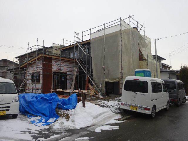 桜台の家 大工工事進行中です。_f0105112_04370611.jpg