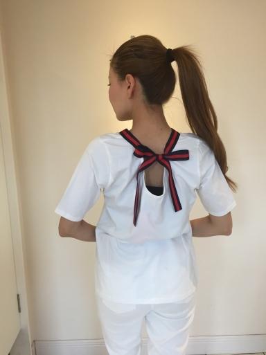 大きなパールが可愛いTシャツ_c0223630_21430216.jpg