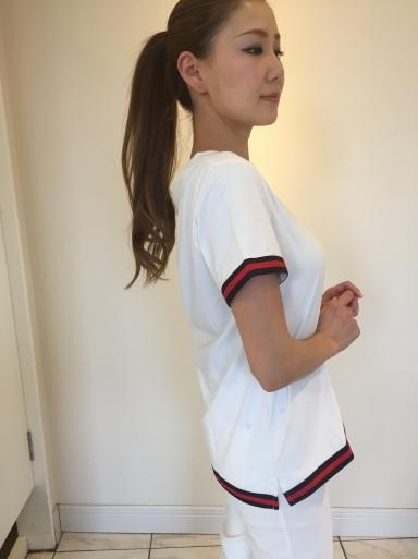 大きなパールが可愛いTシャツ_c0223630_21494548.jpg