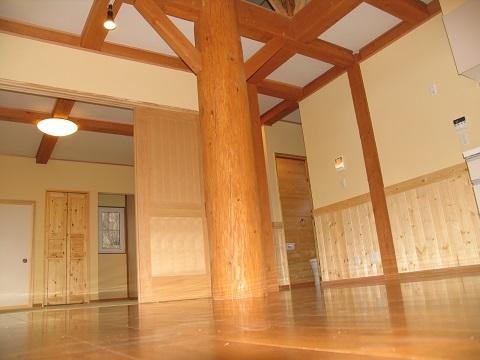 那須平和郷でのティンバーフレームプロジェクト16完成_d0059949_10242911.jpg