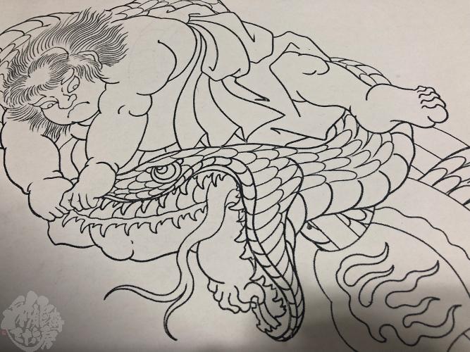 金太郎の大蛇退治_a0148054_21135641.jpeg
