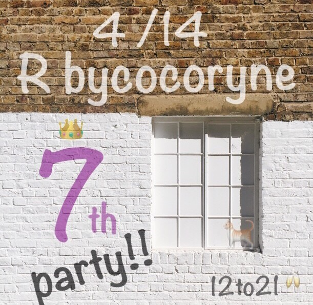 R bycocoryne 7周年PARTY☆☆☆☆☆☆☆_e0269968_20570872.jpg