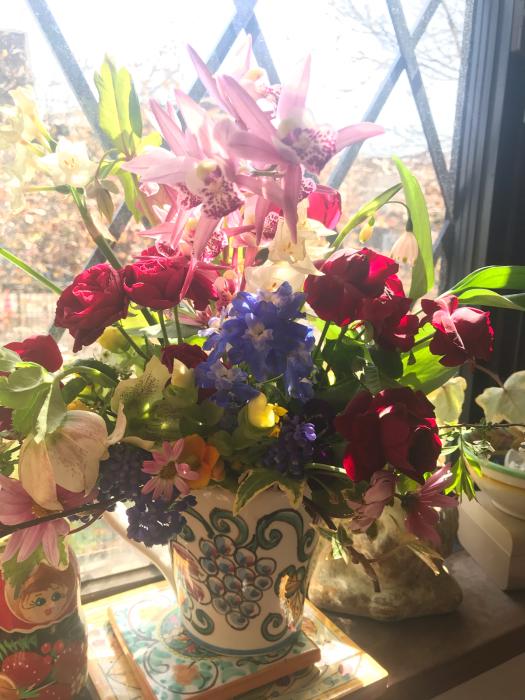 春のフラワーアレンジメント_e0233674_10443702.jpg