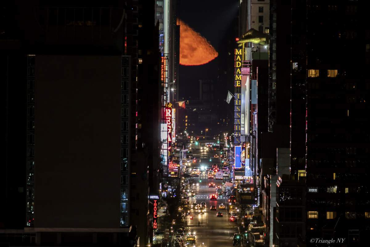 Manhattan Moon Henge is over the Times Square! 2019_a0274805_00212638.jpg
