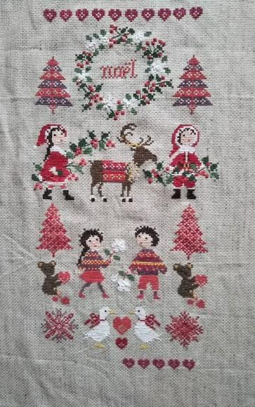 クリスマス刺繍が!_f0316507_21323839.jpg
