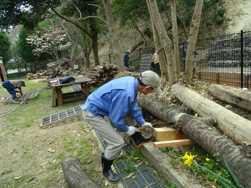 復旧した小川周辺の整備・・・うみべの森_c0108460_16291134.jpg