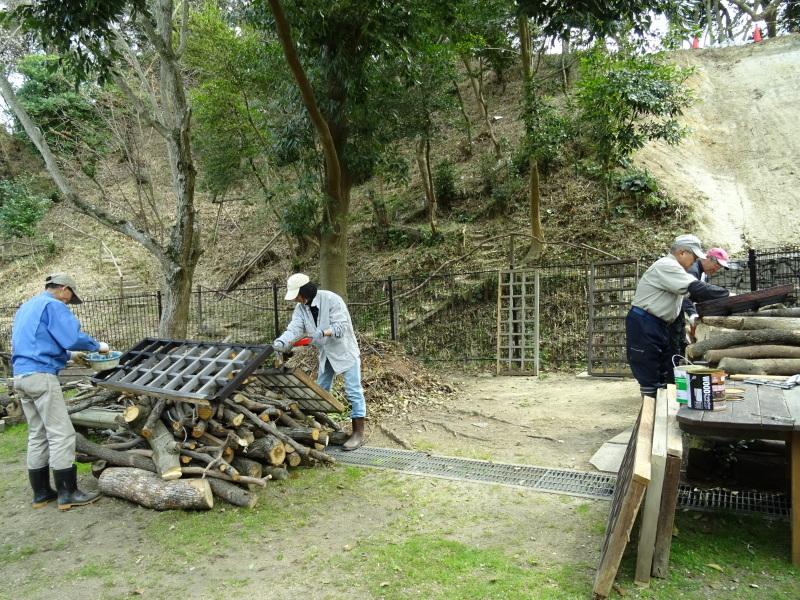 復旧した小川周辺の整備・・・うみべの森_c0108460_16330776.jpg