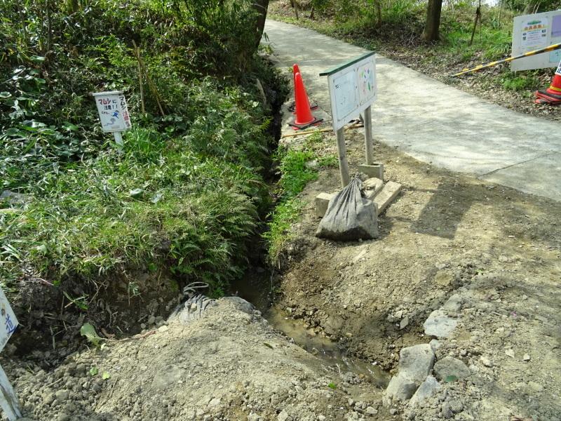 復旧した小川周辺の整備・・・うみべの森_c0108460_16344959.jpg