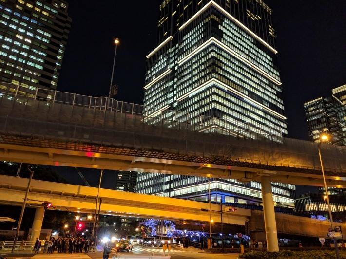 赤坂見附、夜桜_d0193569_08242130.jpg