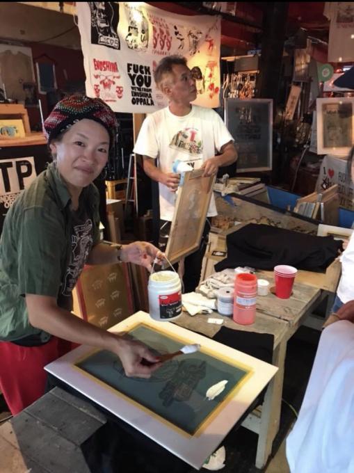 4月13日 江の島オッパーラが贈るレコード&古着のフリーマーケット開催!KZA/MISTA SHAR/太平洋商店/SG THE KOOLEST オッパーラはシルクスクリーン手刷りで参加!_d0106911_21552239.jpg