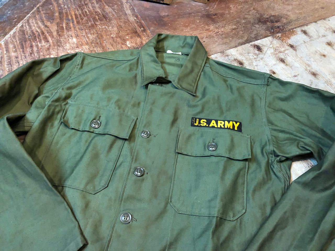 3月30日(土)入荷! デッドストック!60s U.S ARMY  0G107 サテンシャツ! _c0144020_13344036.jpg