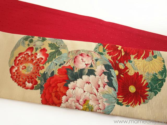 【人気商品】Air草履☆半巾帯/花丸紋が再入荷しました♪_e0167832_13131807.jpg