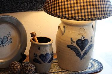 Rowe Pottery の大きなハートのランプ♥_f0161543_2330556.jpg