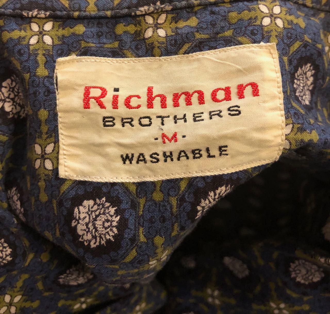 3月31日(日)入荷!60s RICHMAN BROTHERS  オープンカラーシャツ!_c0144020_13370040.jpg