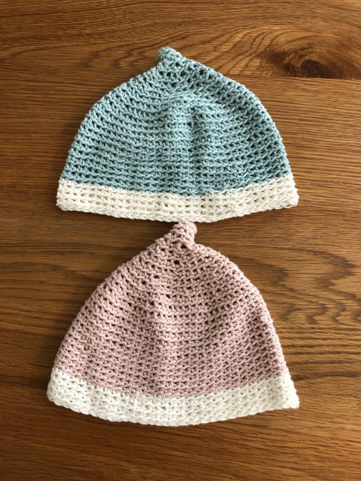 娘ちゃんの春用のどんぐり帽子。_b0135325_10544744.jpg
