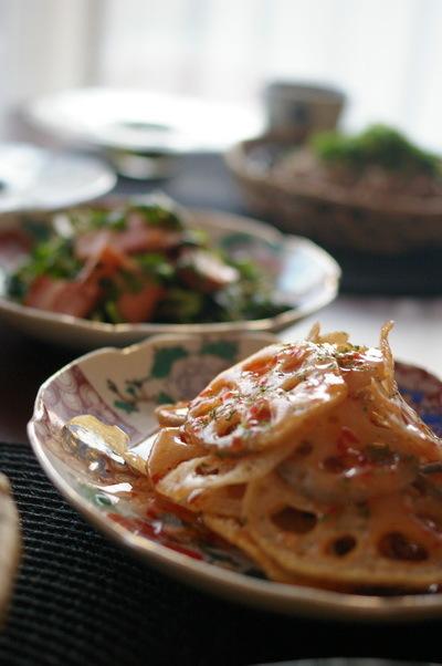 肉ざる蕎麦がメインの夕食_d0327373_07415410.jpg