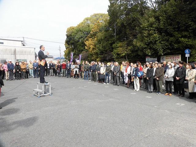 定数4に対し5人が立候補の県議会議員選挙 鈴木すみよし候補の出陣式_f0141310_07384854.jpg