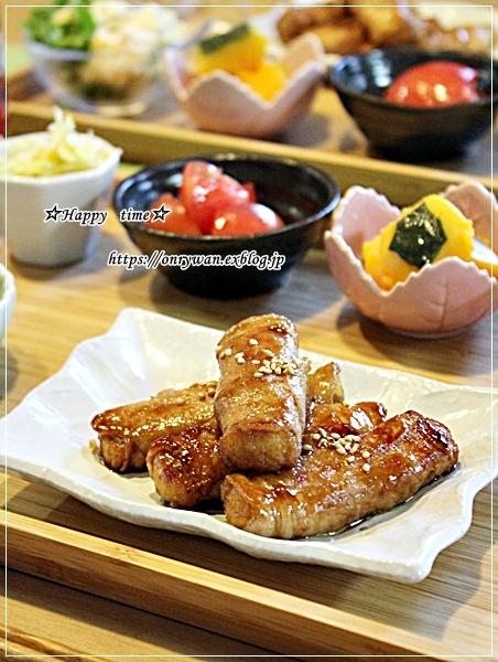 サーモンのバター醤油焼き弁当とおうちごはん♪_f0348032_17285577.jpg