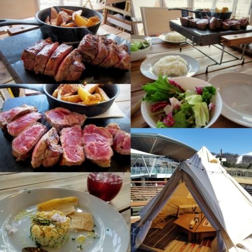 サクレフルール 軽井沢 * グランピング気分が楽しめるパリ発の肉ビストロがNewOpen!_f0236260_16534383.jpg