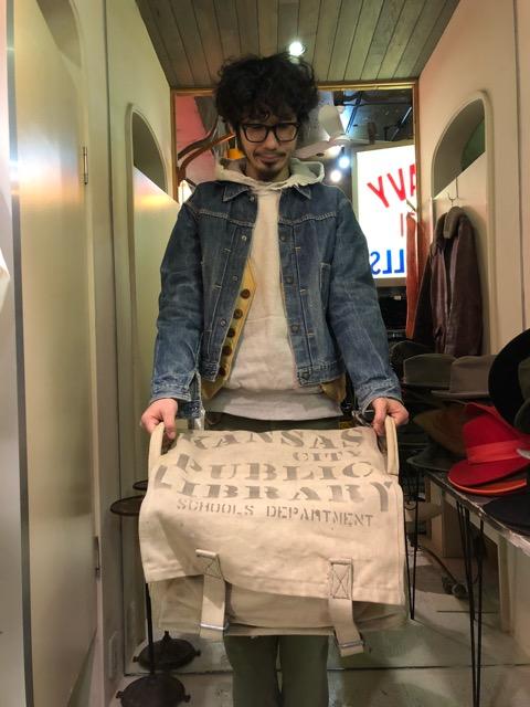 4月3日(水)マグネッツ大阪店、春ヴィンテージ入荷!!#4 WorkHunting編!! 40\'s CanvasBookBag& MemorialJKT!!(大阪アメ村店)_c0078587_16164027.jpg