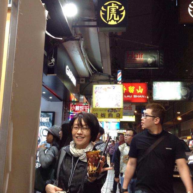 香港で台湾発の黒糖タピオカミルク 「老虎堂黒糖専売タイガーシュガー」めちゃくちゃ美味しい。_a0334793_01260251.jpg