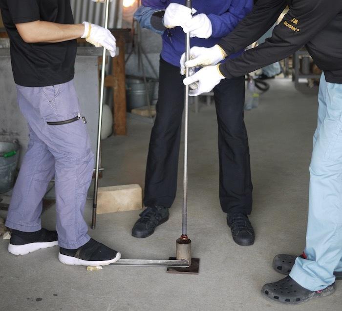 沖縄本島北へゆく旅8 琉球ガラス作りを体験する_e0359436_16170352.jpg
