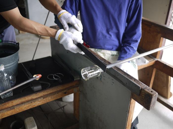 沖縄本島北へゆく旅8 琉球ガラス作りを体験する_e0359436_16170714.jpg