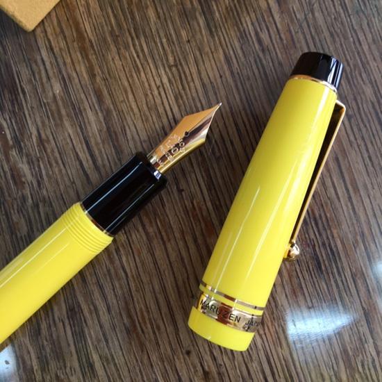 黄色狂、丸善150周年記念万年筆『檸檬』を買う、の巻_b0010487_09300362.jpg