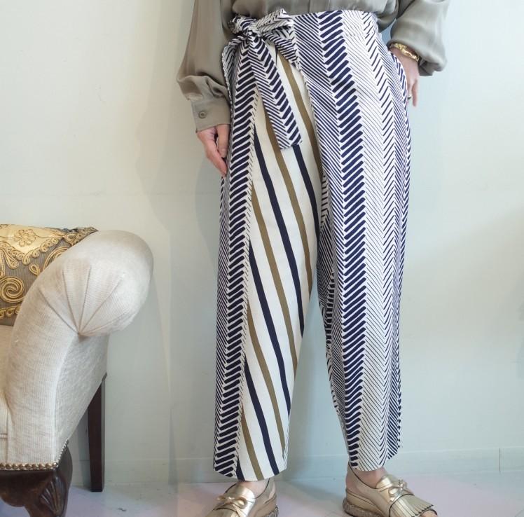 OKIRAKU◆Printed dobby Wrap Pants◆_e0269968_17443635.jpg