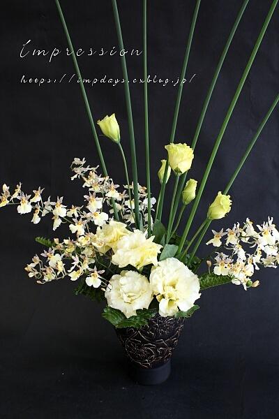 先週の定期装花から オンシジューム スノーホワイト_a0085317_03410361.jpg