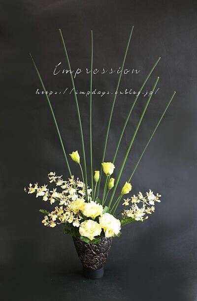 先週の定期装花から オンシジューム スノーホワイト_a0085317_03411036.jpg