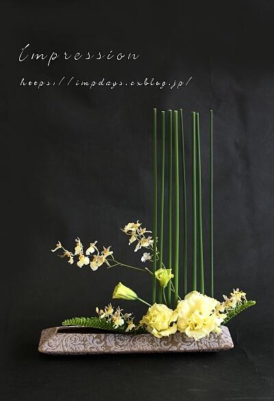 先週の定期装花から オンシジューム スノーホワイト_a0085317_03411381.jpg