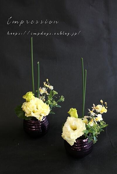 先週の定期装花から オンシジューム スノーホワイト_a0085317_03411645.jpg