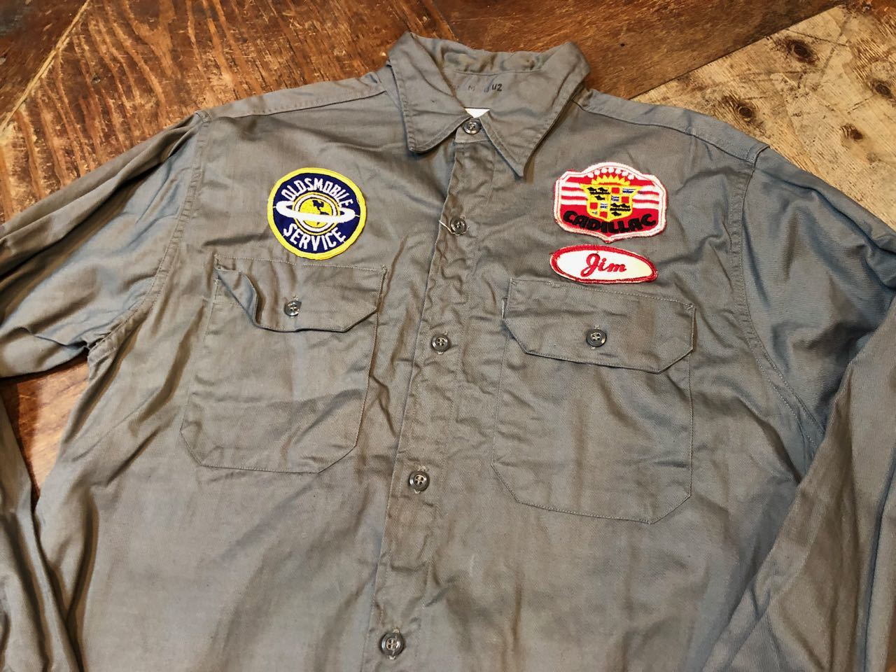 50s&60s  OLDSMOBILE  Factory  Work Shirs!! _c0144020_13380121.jpg