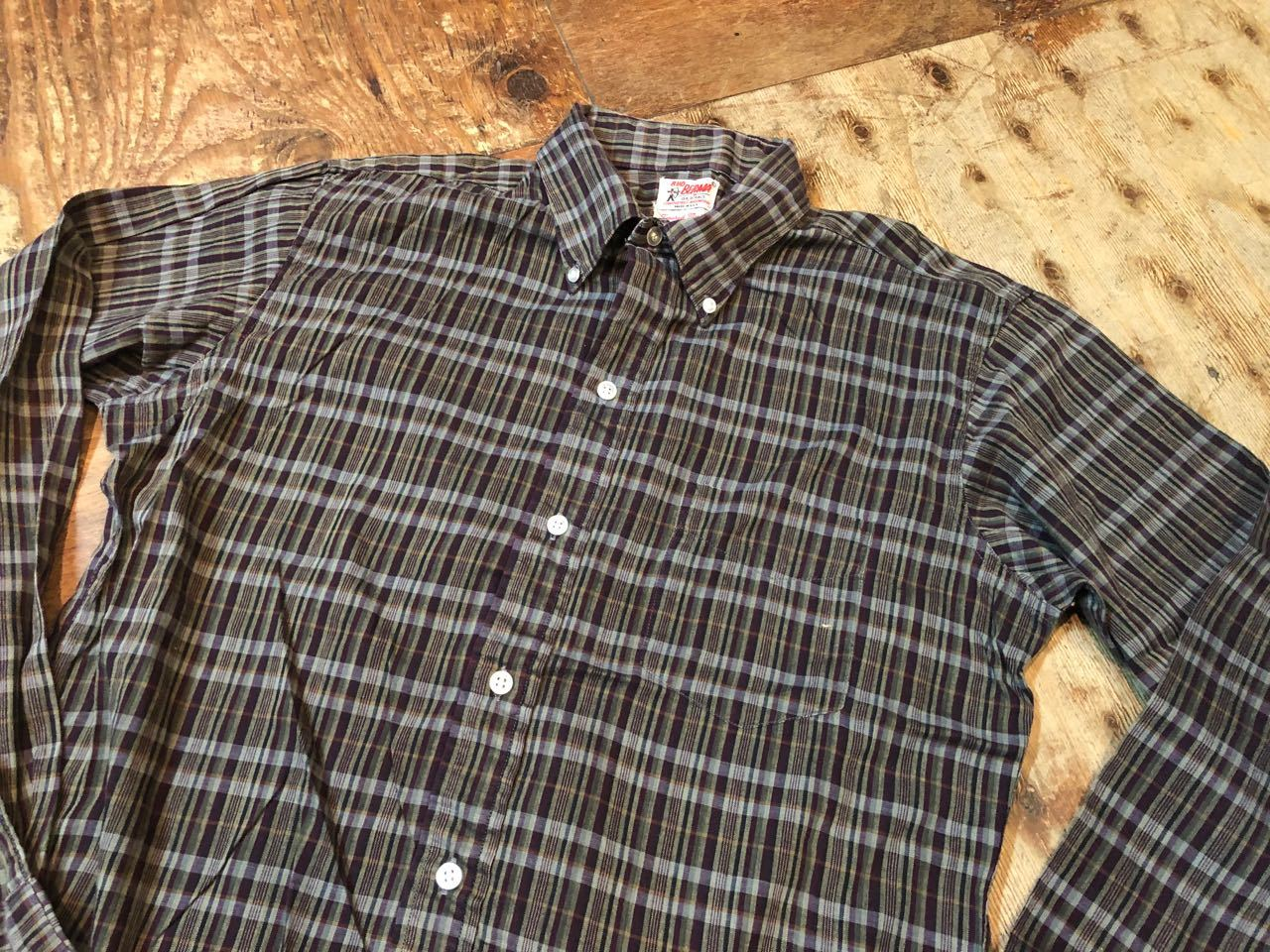 4月6日(土)入荷!60s BUD BERMA Tapered Model B.D シャツ!_c0144020_14230210.jpg