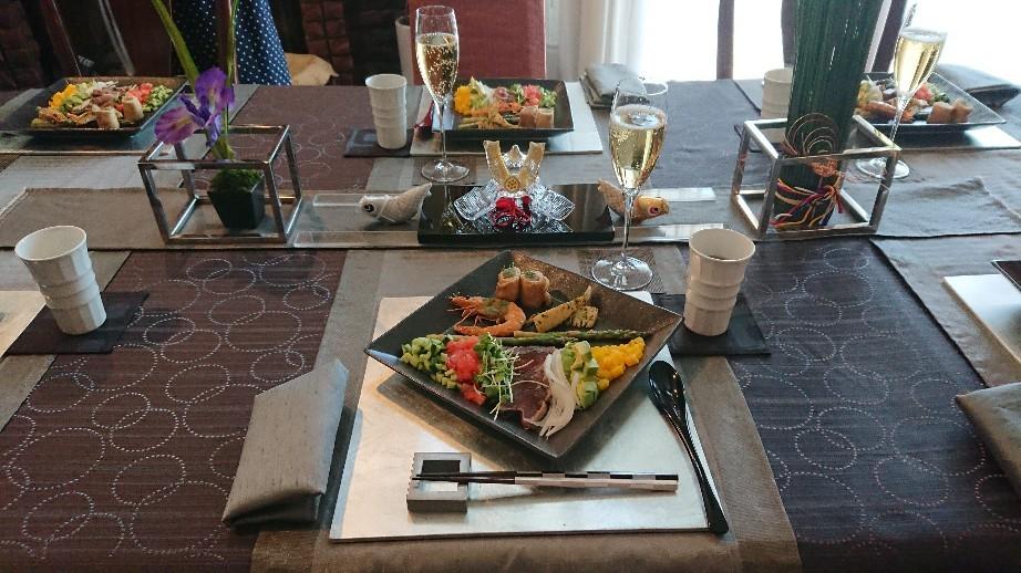 「端午の節句」のおもてなし料理が始まりました。_f0323446_23045874.jpg
