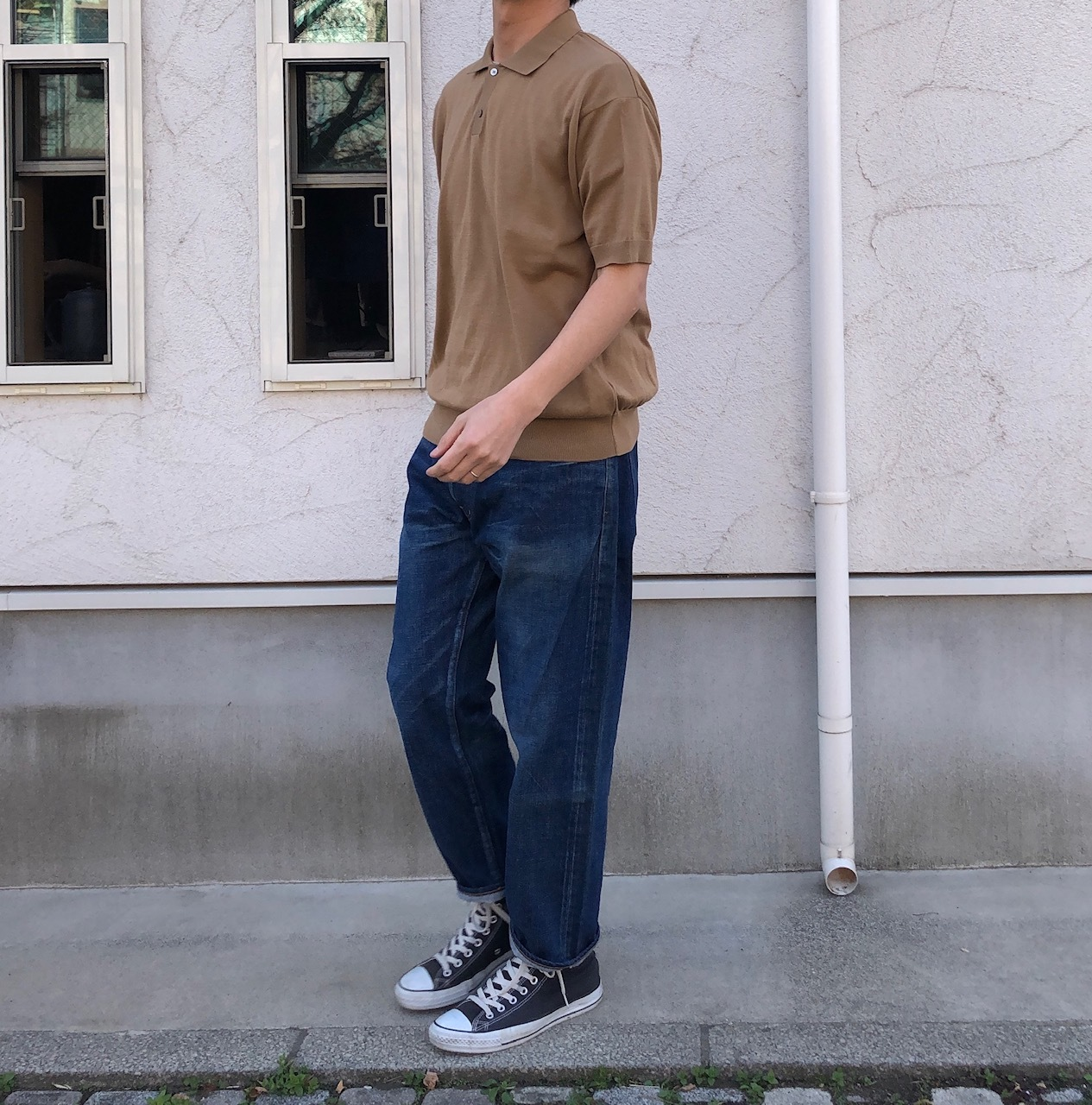 ORDINARY FITS ニットポロ_d0334060_17022397.jpg