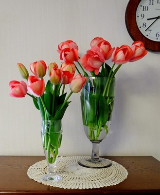 春ですね♪スプリングコートとチューリップ_b0194861_19005003.jpg