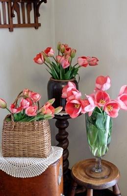 春ですね♪スプリングコートとチューリップ_b0194861_19012928.jpg